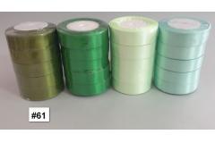 Traka za pakiranje satenska 22m x 2,5cm jednobojna zelena CH8460-61