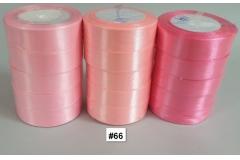 Traka za pakiranje satenska 22m x 2,5cm jednobojna roza CH8460-66