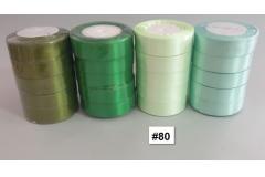 Traka za pakiranje satenska 22m x 2,5cm jednobojna svijetlo zelena CH8460-80