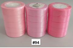 Traka za pakiranje satenska 22m x 2,5cm jednobojna roza CH8460-94
