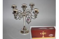 Svijećnjak stolni metalni ,5 svijeća 27,5x27cm CH9339