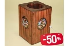 Kutija za olovke drvena 4000 10x6,5x6,5cm FE1542  -50%