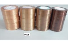 Traka za pakiranje satenska 22m x 2,5cm jednobojna zlatna CH8460-105