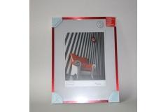 Okvir za sliku metalni  30x40cm  crveni  IM21383