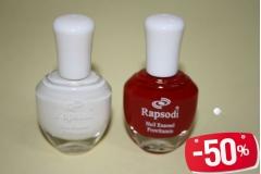 Rapsodi lak za nokte 14ml (crveni-120,bijeli kreč-165) TR3018  -50%