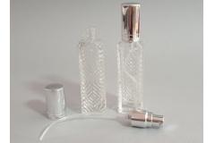 Bočica staklena za parfem sa čepom i cjevčicom    10cm      CH4284