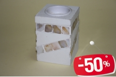 Svijećnjak mozaik 9x6,5x6,5cm CH2463 -50%