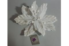 Cvijet  dekoracija božićna zvijezda bijela  26x25cm CH53175