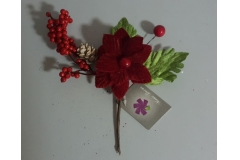 Grančica dekorativna Božićna  22cm  CH54050