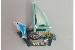 Suvenir magnet Neum  9x8cm  CH60276