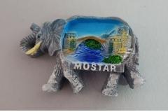Suvenir magnet keramički  Mostar  7,5x5cm  CH6284