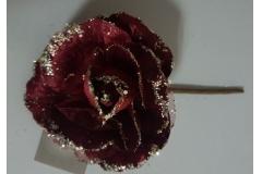 Božićna ruža bordo 22x12cm CH6640